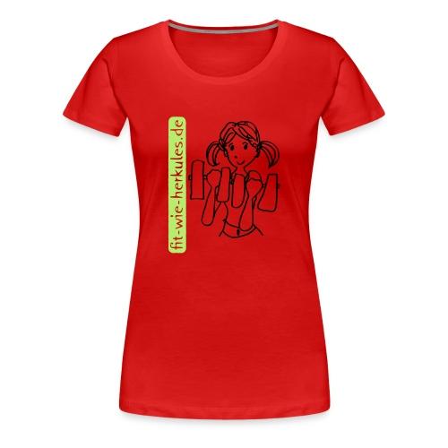 fitwieherkules.de Logo-Shirt - Frauen Premium T-Shirt