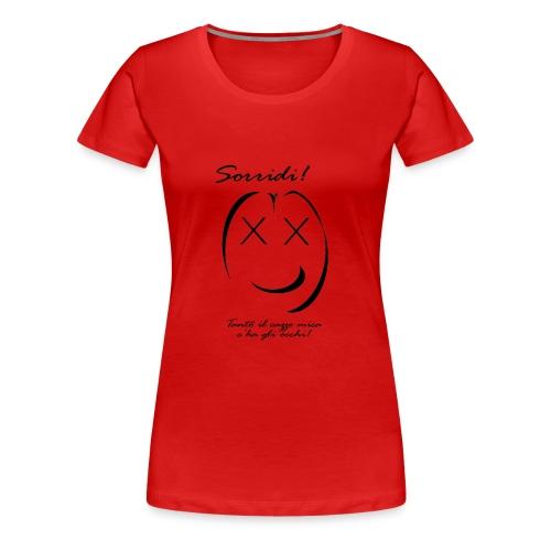 sorridi smile - Maglietta Premium da donna