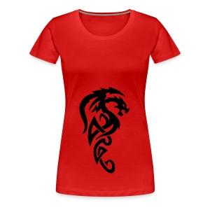 Smok tribial - Koszulka damska Premium