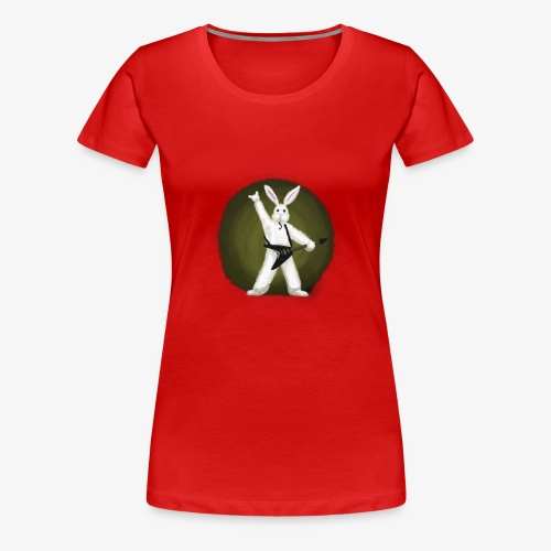Metal Bunny - Women's Premium T-Shirt