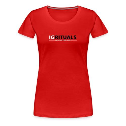 ig rituals text black and white - Women's Premium T-Shirt