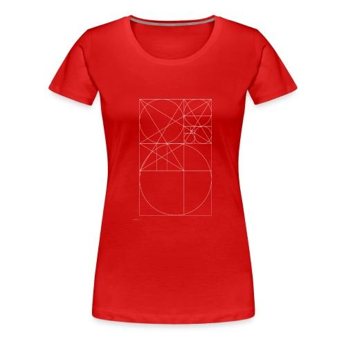 Złoty Podział - Biały - Koszulka damska Premium