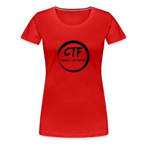 CTF BLACK/BLACK - Vrouwen Premium T-shirt