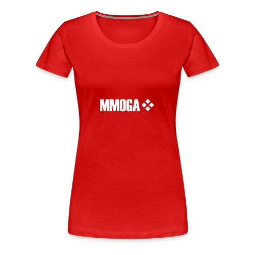 mmoga-logo-white-8817x2008-vector - Frauen Premium T-Shirt