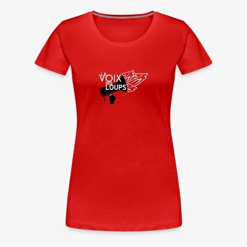 LVDL OFFICIEL 2017 TSHIRT ROUGE - T-shirt Premium Femme