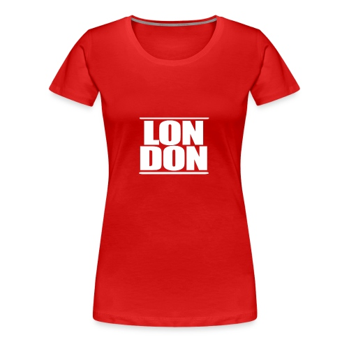 LON DON Logo White - Women's Premium T-Shirt