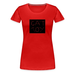 cat toy - Frauen Premium T-Shirt