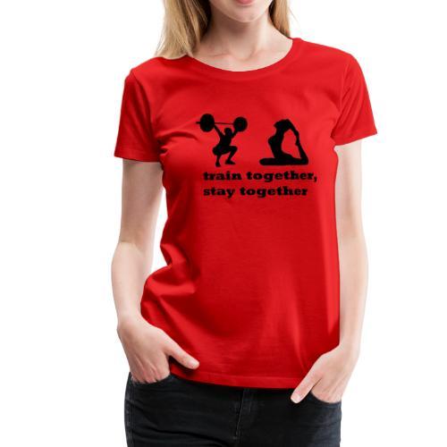 Fitness Pärchen - Frauen Premium T-Shirt