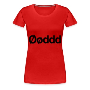Øøddd (sort skrift) - Dame premium T-shirt