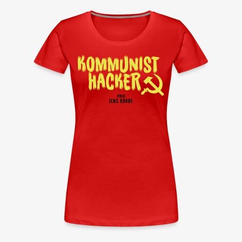Kommunist Hacker ifølge Jens - Dame premium T-shirt