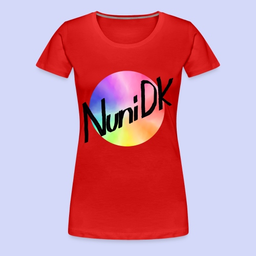 Rainbow shade, NuniDK Collection - Female top - Dame premium T-shirt