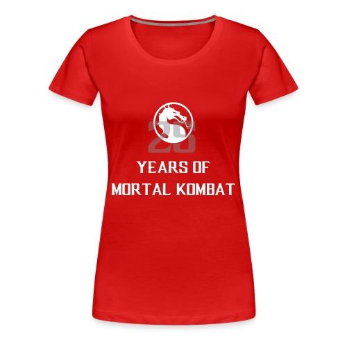 25 Years of Mortal Kombat: Mortal Kombat X ver. 01 - Women's Premium T-Shirt