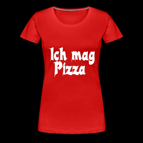 Pizza Logo white - Frauen Premium T-Shirt
