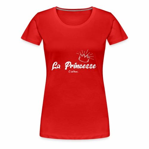 princesse couronne BLANC - T-shirt Premium Femme