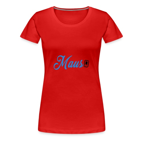 Hoesje MAUS 8Bit Blauw - Vrouwen Premium T-shirt