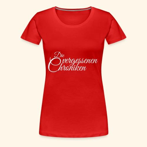 Die vergessenen Chroniken Logo (weiß) - Frauen Premium T-Shirt