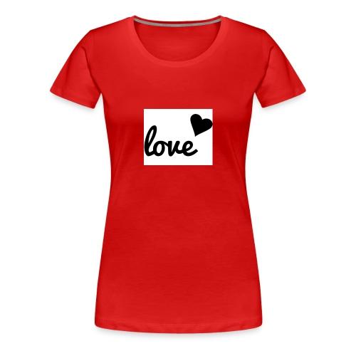 Handyhülle schwarz weiß love - Frauen Premium T-Shirt