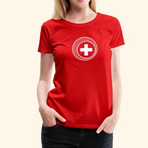Schweiz ☆ T-Shirt ☆ geometric ☆ Kreuz - Frauen Premium T-Shirt