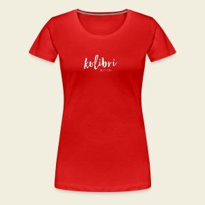 Logo Kolibri Design weiss - Frauen Premium T-Shirt