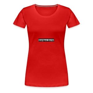 Rød Cap med Logo - Premium T-skjorte for kvinner