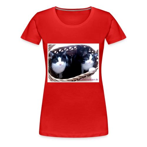 Katzenkorb - Frauen Premium T-Shirt