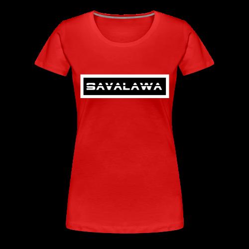 SavaLawa Schrift Schwarz/Weiß - Frauen Premium T-Shirt