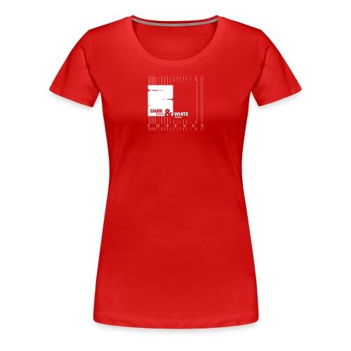 White & Dark - Frauen Premium T-Shirt