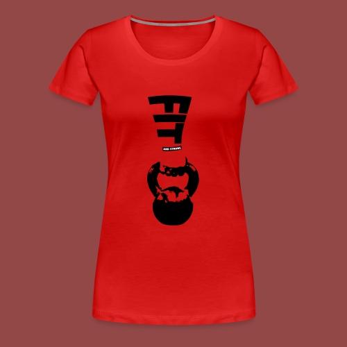 fitandstrong - Vrouwen Premium T-shirt
