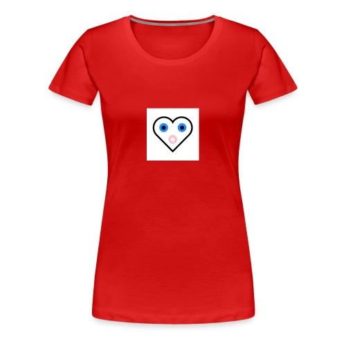 Un cœur qui cherche à exprimer sa joie. - T-shirt Premium Femme