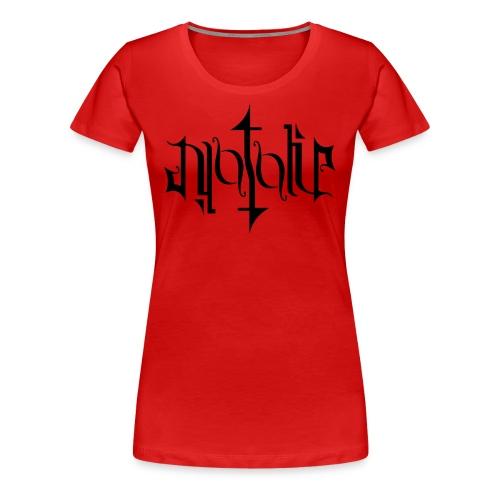 Ambigramm Natalie - Frauen Premium T-Shirt
