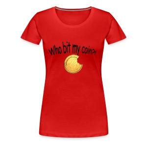 Bitcoin bite - Vrouwen Premium T-shirt