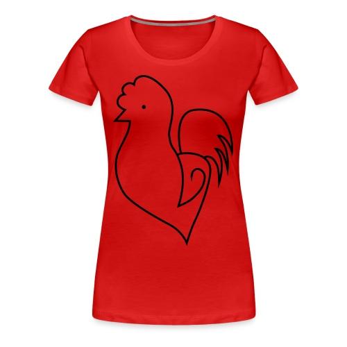 HerzchenHühnchen - Frauen Premium T-Shirt