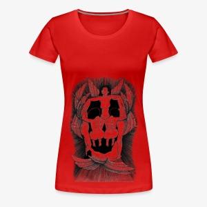 Fallen angels summoning the old samurai - Women's Premium T-Shirt