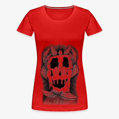 Fallen angels summoning the old samurai - Women's Premium T-Shirt