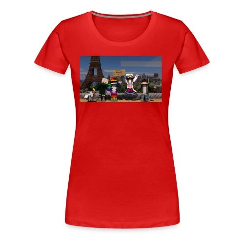Paris Minecraft Bild mit Mir, Luka, Helena - Frauen Premium T-Shirt