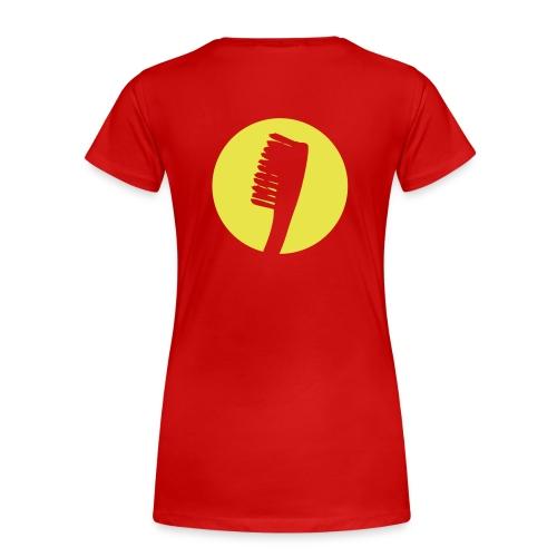 diggaladen gegeng20 zahnbuerste freigestellt SW ru - Frauen Premium T-Shirt