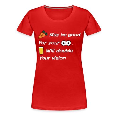 Wortels en ogen - Vrouwen Premium T-shirt