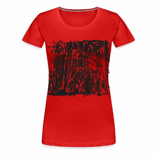paintBlobBlack2 - Women's Premium T-Shirt