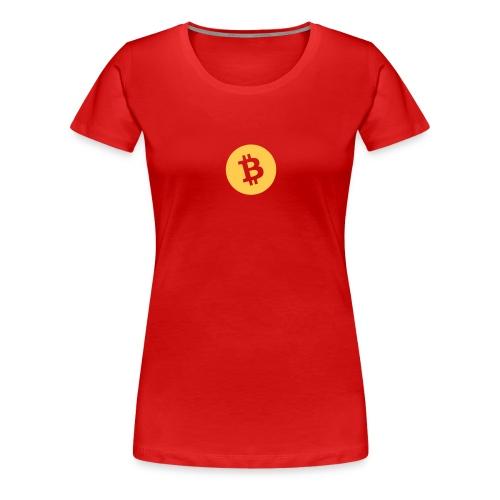 Bitcoin - Frauen Premium T-Shirt