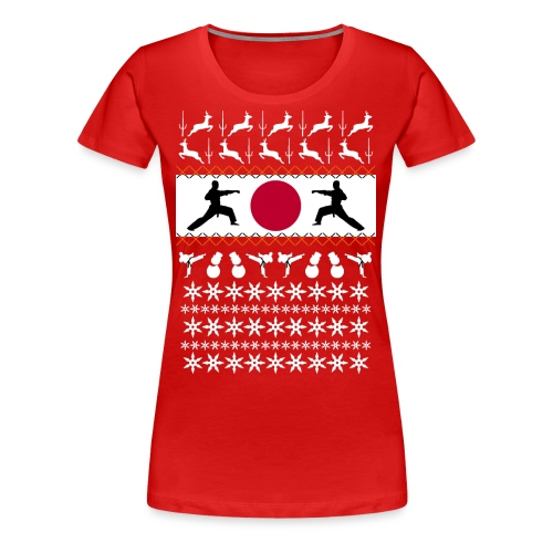 Karate Christmas Jumper - Women's Premium T-Shirt