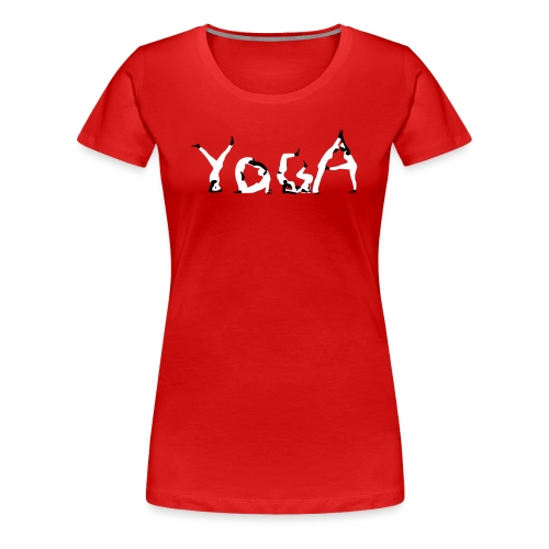 Yoga white - Frauen Premium T-Shirt