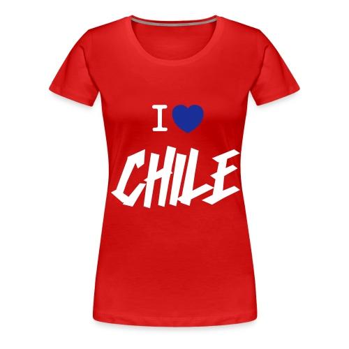 I Love Chile Graffiti - Premium-T-shirt dam