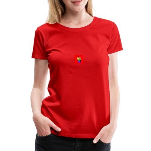 Lgbt Faust Protest roter Hintergrund - Frauen Premium T-Shirt
