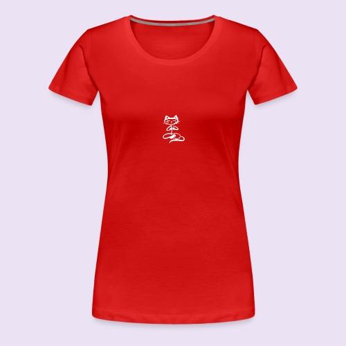 Chat zen Blanc - T-shirt Premium Femme