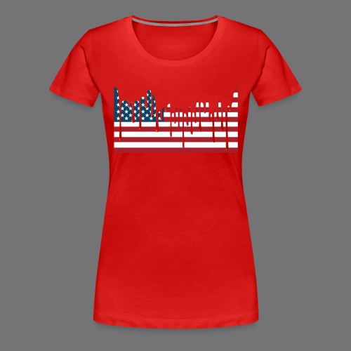 USA FLAG Tee Shirts - Women's Premium T-Shirt