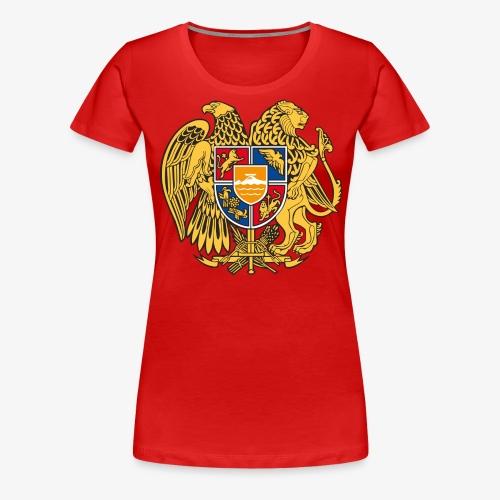 03 Armenien Wappen Armenia Армения T-Shirts - Frauen Premium T-Shirt
