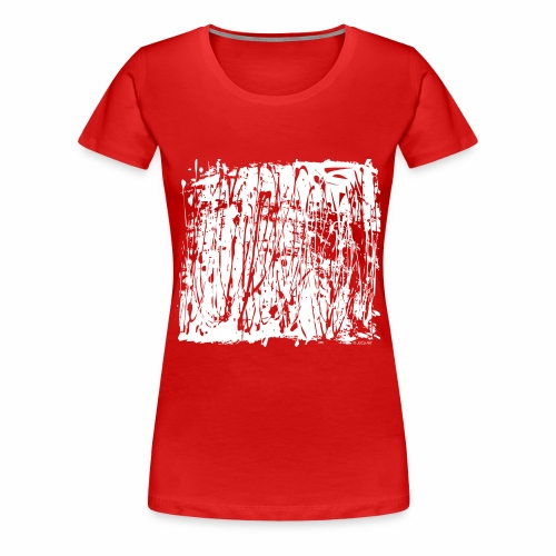 Paint Blob White - Women's Premium T-Shirt