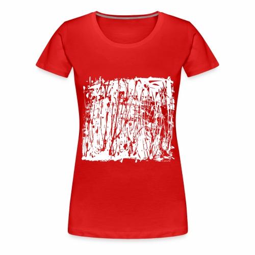 Paint Blob White - Women's Premium T-Shirt