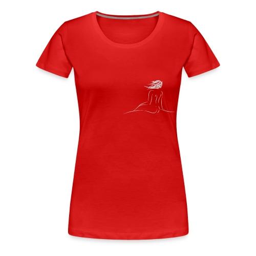 Nymphe grau - Frauen Premium T-Shirt
