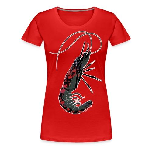 shrimp-U #splashedBlack - Maglietta Premium da donna
